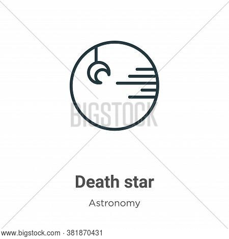 Death star icon isolated on white background from astronomy collection. Death star icon trendy and m