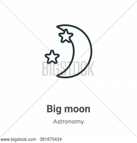 Big moon icon isolated on white background from astronomy collection. Big moon icon trendy and moder