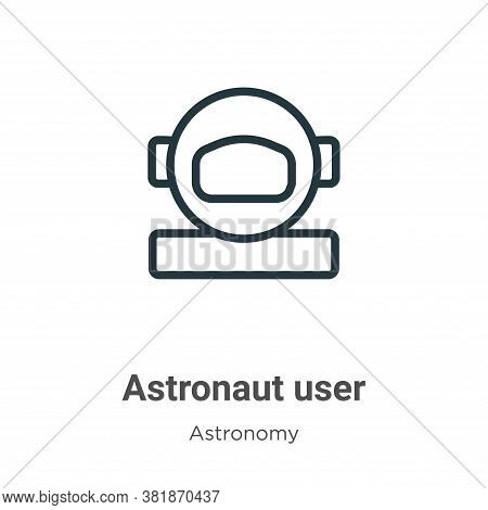 Astronaut user icon isolated on white background from astronomy collection. Astronaut user icon tren