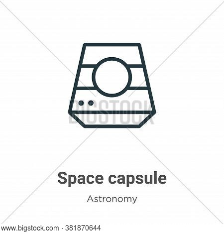 Space capsule icon isolated on white background from astronomy collection. Space capsule icon trendy