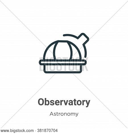 Observatory icon isolated on white background from astronomy collection. Observatory icon trendy and