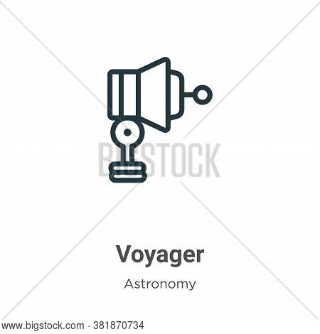 Voyager icon isolated on white background from astronomy collection. Voyager icon trendy and modern