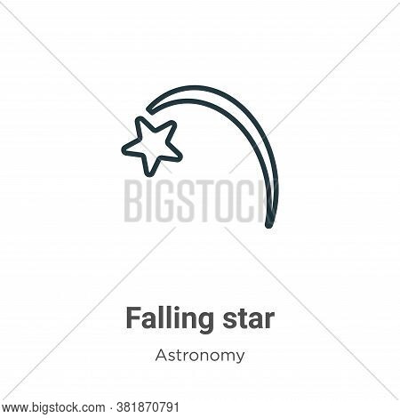 Falling star icon isolated on white background from astronomy collection. Falling star icon trendy a