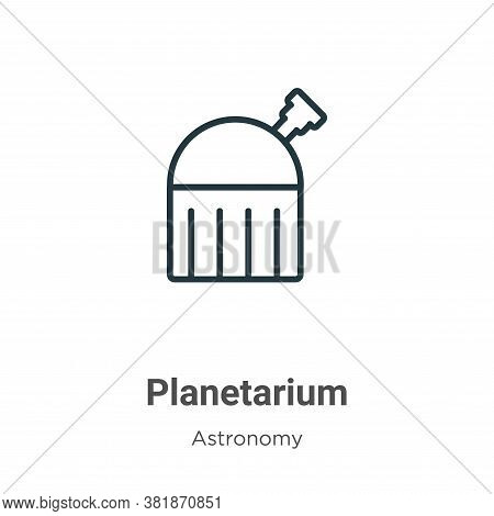 Planetarium icon isolated on white background from astronomy collection. Planetarium icon trendy and