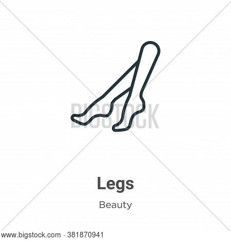 Legs icon isolated on white background from beauty collection. Legs icon trendy and modern Legs symb
