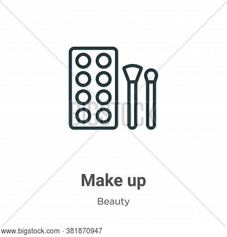 Make up icon isolated on white background from beauty collection. Make up icon trendy and modern Mak