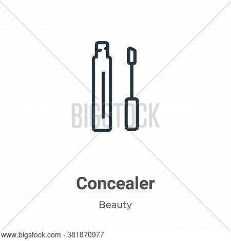 Concealer icon isolated on white background from beauty collection. Concealer icon trendy and modern