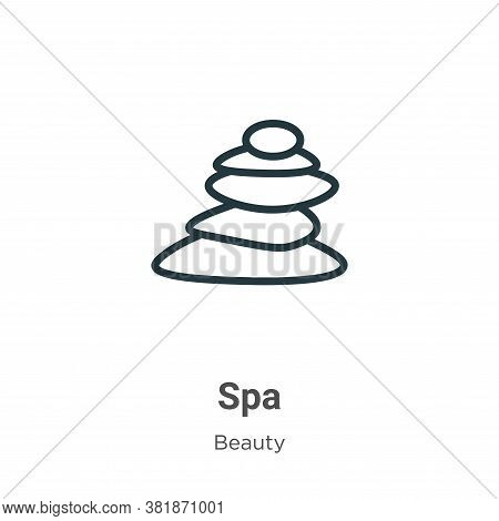 Spa icon isolated on white background from beauty collection. Spa icon trendy and modern Spa symbol