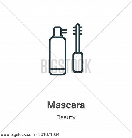 Mascara icon isolated on white background from beauty collection. Mascara icon trendy and modern Mas