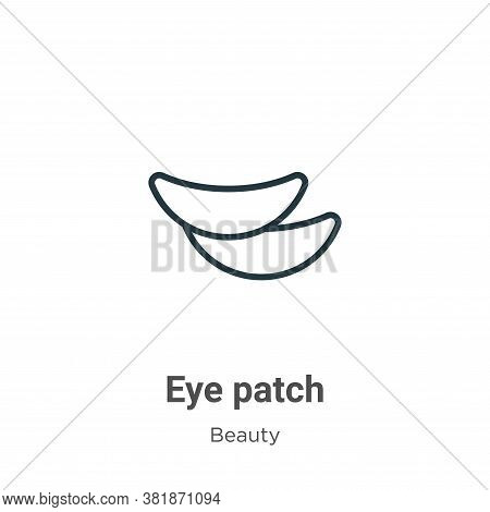 Eye patch icon isolated on white background from beauty collection. Eye patch icon trendy and modern