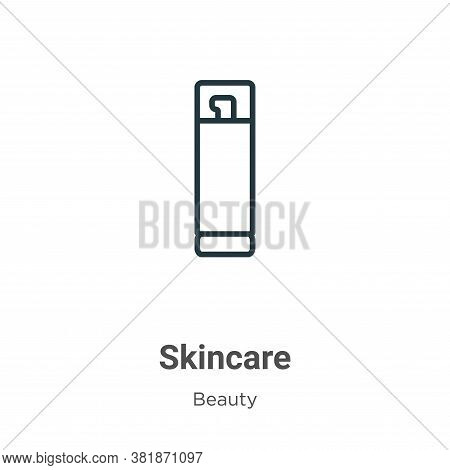 Skincare icon isolated on white background from beauty collection. Skincare icon trendy and modern S