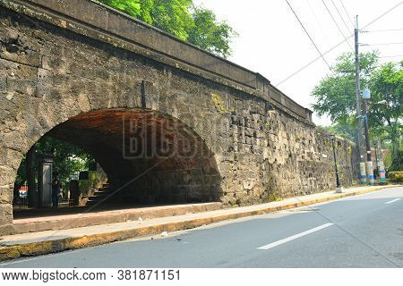 Manila, Ph - Oct. 5 - Tunnel Bridge Rampart At Intramuros Walled City On October 5, 2019 In Manila,