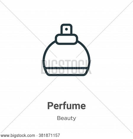Perfume icon isolated on white background from beauty collection. Perfume icon trendy and modern Per