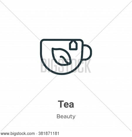 Tea icon isolated on white background from beauty collection. Tea icon trendy and modern Tea symbol