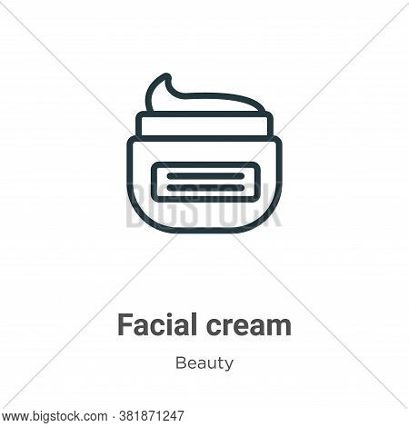 Facial cream icon isolated on white background from beauty collection. Facial cream icon trendy and