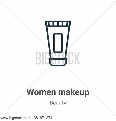 Women makeup icon isolated on white background from beauty collection. Women makeup icon trendy and