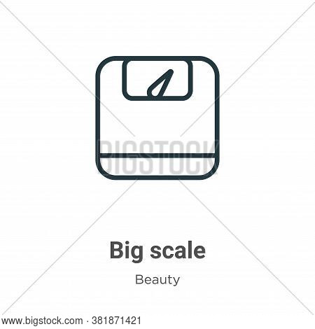 Big scale icon isolated on white background from beauty collection. Big scale icon trendy and modern