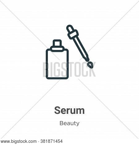 Serum icon isolated on white background from beauty collection. Serum icon trendy and modern Serum s