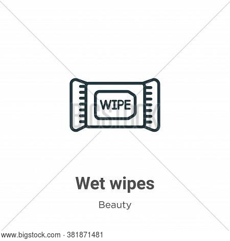 Wet wipes icon isolated on white background from beauty collection. Wet wipes icon trendy and modern