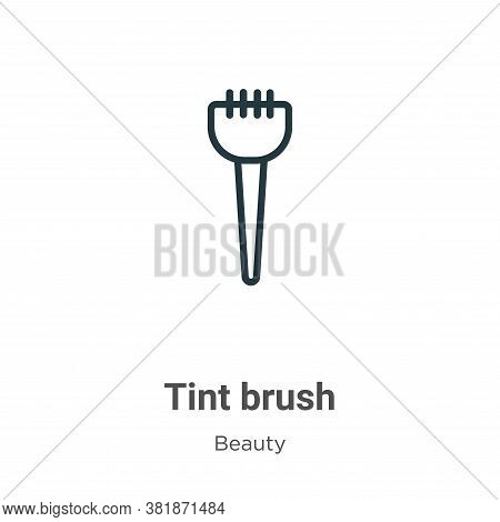 Tint brush icon isolated on white background from beauty collection. Tint brush icon trendy and mode