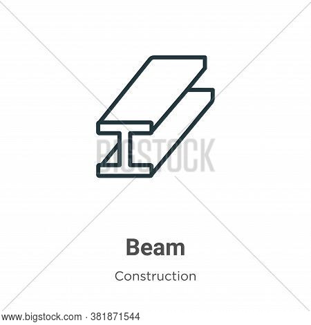 Beam icon isolated on white background from construction collection. Beam icon trendy and modern Bea