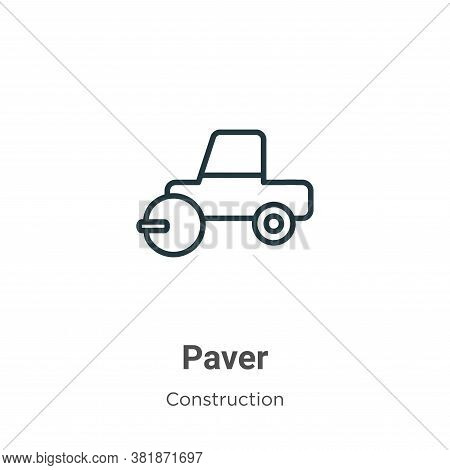 Paver Icon From Construction Collection Isolated On White Background.