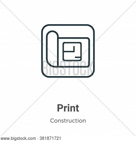 Blueprint icon isolated on white background from construction collection. Blueprint icon trendy and