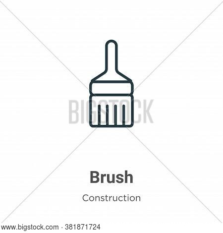 Brush icon isolated on white background from construction collection. Brush icon trendy and modern B