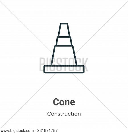 Cone icon isolated on white background from construction collection. Cone icon trendy and modern Con