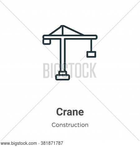 Crane icon isolated on white background from construction collection. Crane icon trendy and modern C