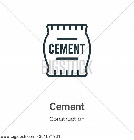 Cement icon isolated on white background from construction collection. Cement icon trendy and modern