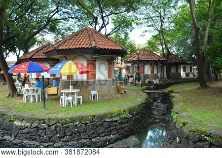 Manila, Ph - Oct. 5 - Puerta Del Parian Outdoor Park At Intramuros Walled City On October 5, 2019 In