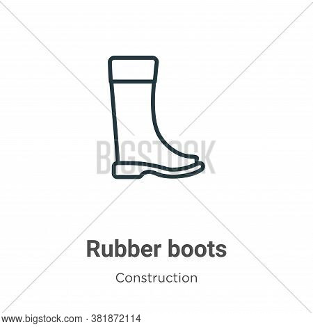 Rubber boots icon isolated on white background from construction collection. Rubber boots icon trend