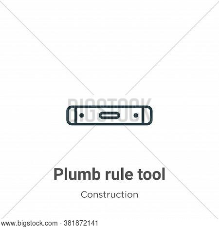 Plumb rule tool icon isolated on white background from construction collection. Plumb rule tool icon