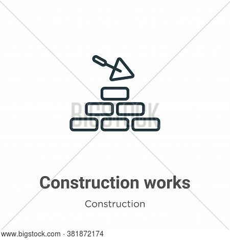 Construction works icon isolated on white background from construction collection. Construction work