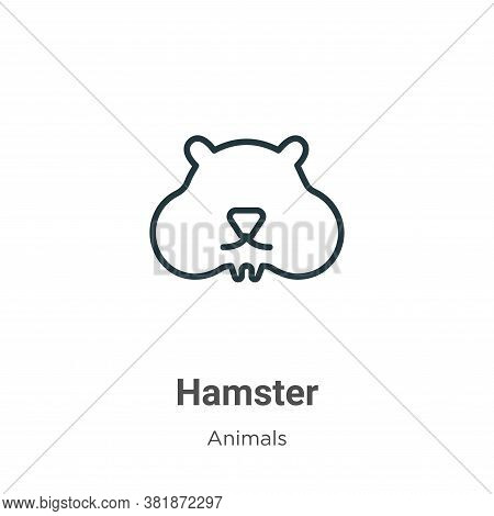 Hamster icon isolated on white background from animals collection. Hamster icon trendy and modern Ha