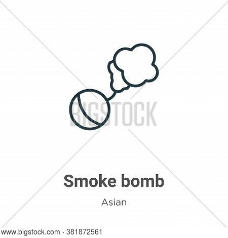 Smoke bomb icon isolated on white background from asian collection. Smoke bomb icon trendy and moder