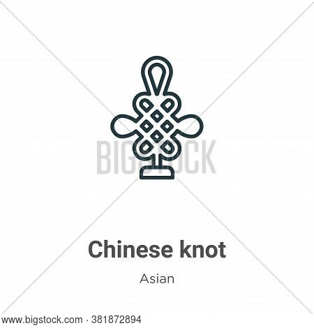 Chinese knot icon isolated on white background from asian collection. Chinese knot icon trendy and m