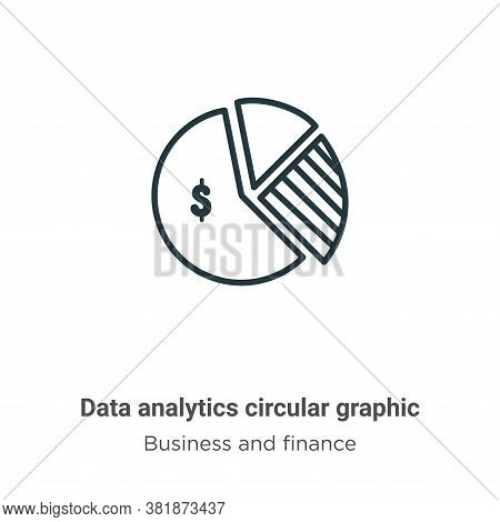 Data analytics circular graphic icon isolated on white background from business and finance collecti