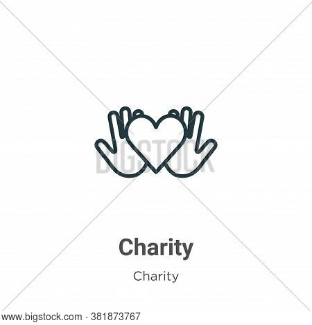 Charity icon isolated on white background from charity collection. Charity icon trendy and modern Ch