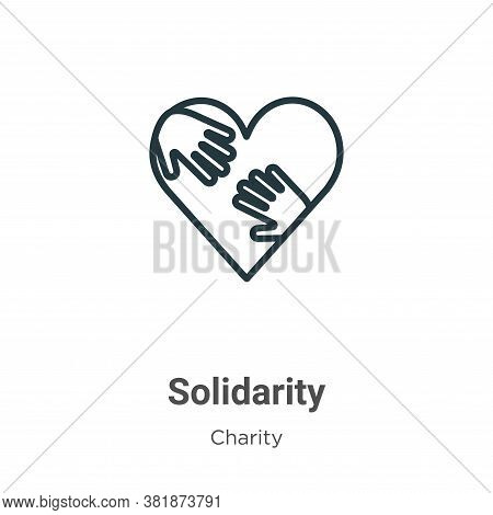 Solidarity icon isolated on white background from charity collection. Solidarity icon trendy and mod