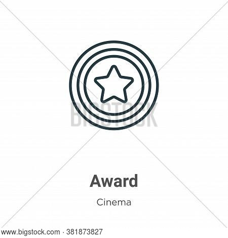 Award symbol icon isolated on white background from cinema collection. Award symbol icon trendy and