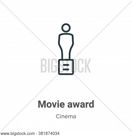 Movie award icon isolated on white background from cinema collection. Movie award icon trendy and mo