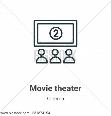 Movie Theater Icon From Cinema Collection Isolated On White Background.