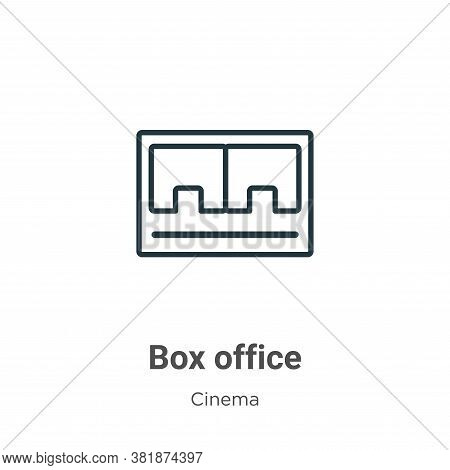 Box office icon isolated on white background from cinema collection. Box office icon trendy and mode