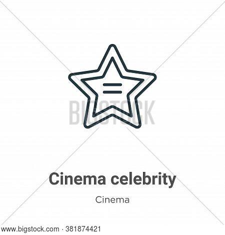 Cinema celebrity icon isolated on white background from cinema collection. Cinema celebrity icon tre