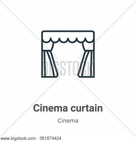 Cinema curtain icon isolated on white background from cinema collection. Cinema curtain icon trendy