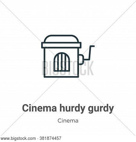 Cinema hurdy gurdy icon isolated on white background from cinema collection. Cinema hurdy gurdy icon