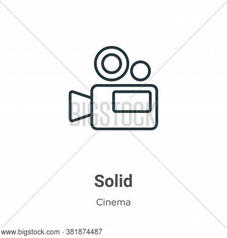Solid icon isolated on white background from cinema collection. Solid icon trendy and modern Solid s