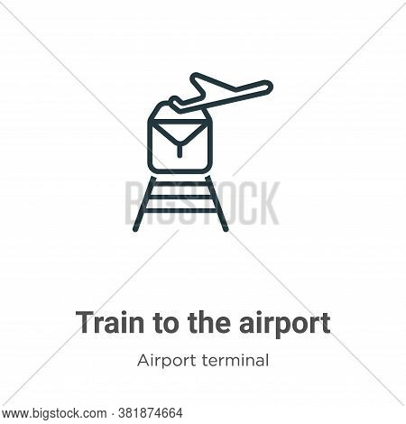 Train to the airport icon isolated on white background from airport terminal collection. Train to th
